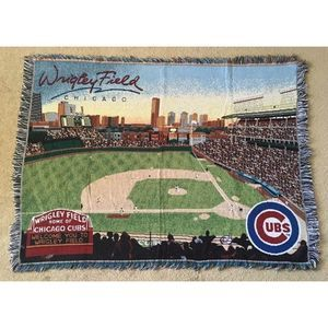 """Wrigley Field Chicago Cubs 58x43"""" Throw Blanket"""